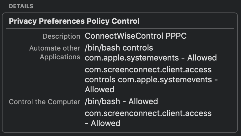 Sign macOS app / Feature Request Portal / ConnectWise Control