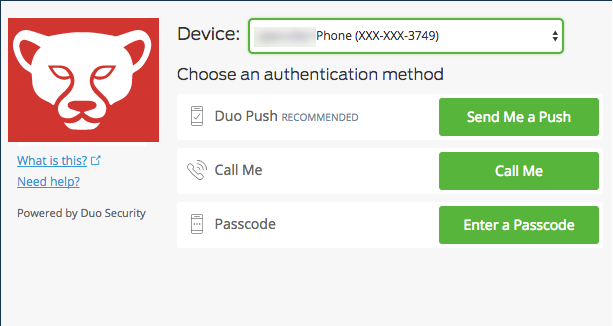 Support ALL Duo 2FA authentication methods / Feature Request Portal