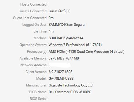 AMD CPU - no monitors connected - Version 6 9 -     / Bug